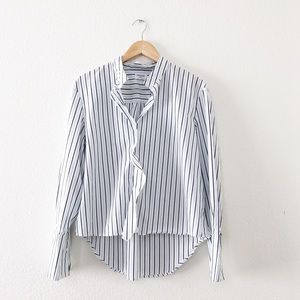 Frame Denim Stripe Cravat Poplin Shirt